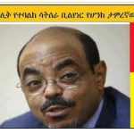 Meles Zenawi and our money