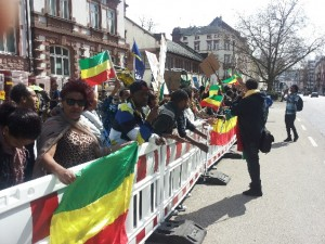 Ethiopians voice their protest in Germany
