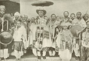 King Menelik and his suite entering Aderach
